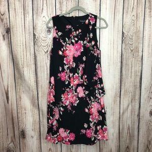 NWT Evan Picone Black Label Floral Layered Dress